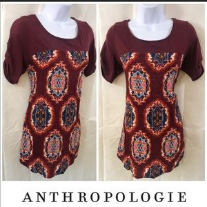 MEADOW RUE ANTHROPOLOGY BUTTON SLEEVE TOP SIZE M